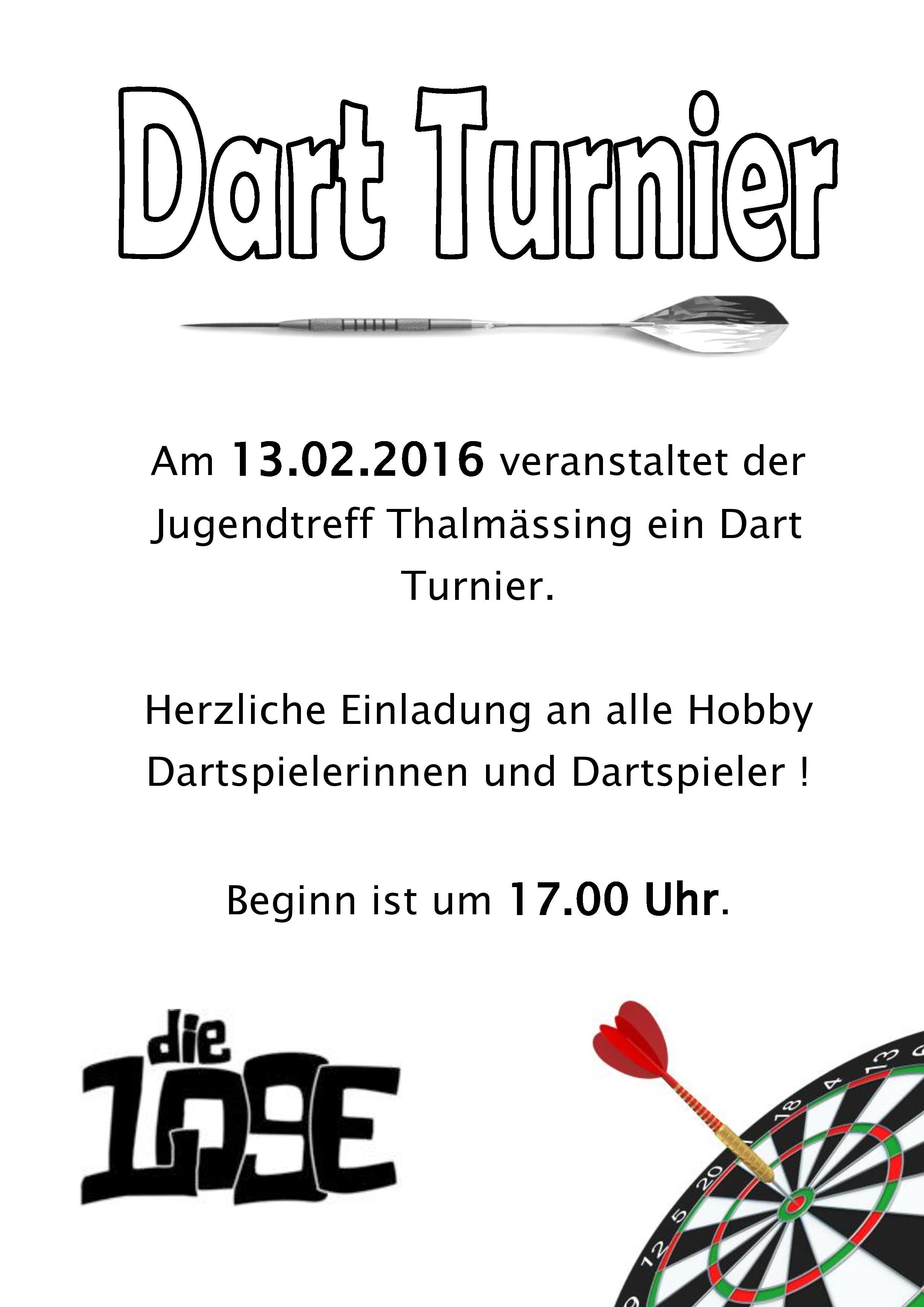 Dart Turnier 2016
